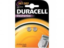 Duracell Batterie Silver Oxide Knopfzelle 357/303 Retail (2-Pack) 013858