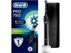 Oral-B Zahnbürste PRO 750 CrossAction mit Reiseetui Schwarz