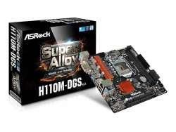 ASRock H110M-DGS R3.0 Intel H110 LGA 1151 (Socket H4) microATX Mainboard 90-MXB4B0-A0UAYZ
