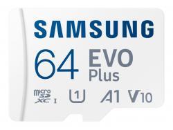 Samsung MicroSDXC 64GB EVO Plus CL10 UHS-I U3 +Adapter MB-MC64KA/EU