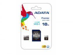ADATA SDHC UHS-I Class 10 16GB Premier -ASDH16GUICL10-R