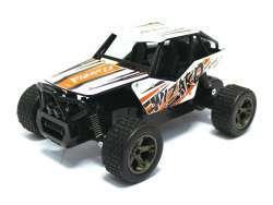 Monster Truck RC KING CHEETAH Wizard 1:18 2.4Ghz (blanc-orange)