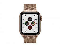 Apple Watch 5 40mm Gold Stainl Case w/Gold Milanese Loop LTE MWX72FD/A