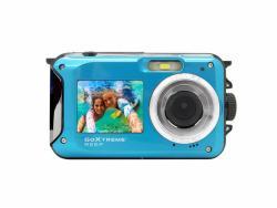 Easypix GoXtreme REEF Unterwasser Kamera mit Dual Display (Blau)