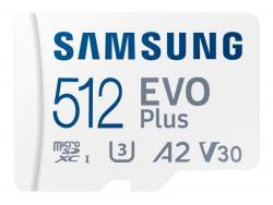 Samsung MicroSDXC 512GB EVO Plus CL10 UHS-I U3 +Adapter MB-MC512KA/EU
