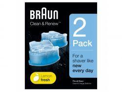 Braun Clean&Charge CCR2 Reinigungskartuschen-Kit, 2er Pack