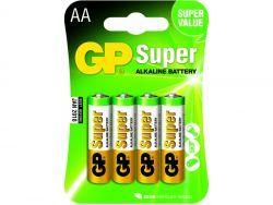 Batterien GP SUPER LR06 Mignon AA (4 St.) 030.15AC4