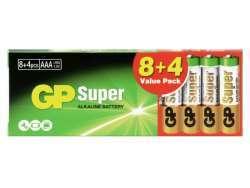 Batterie GP Super Alkaline R03 Micro AAA (8 St.+4) 03024AB8+4