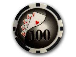 Poker Chips Deluxe 100$ Nero - 50 Pezzi