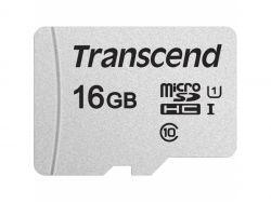Transcend MicroSD/SDHC Card 16GB USD300S-A w/Adap. TS16GUSD300S-A
