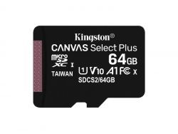 Kingston MicroSDXC 64GB Canvas Select Plus SDCS2/64GB-3P1A