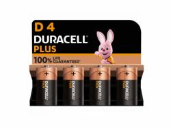 Battery Duracell Alkaline Plus Extra Life MN1300/LR20 Mono D (4-Pack)