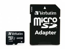 Verbatim PRO MicroSDXC 64GB Cl.10 U3 UHS-I W/Adapter 47042