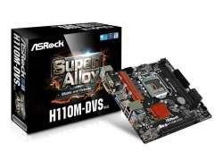 ASRock H110M-DVS R3.0 Intel H110 LGA 1151 (Socket H4) microATX Mainboard 90-MXB4A0-A0UAYZ