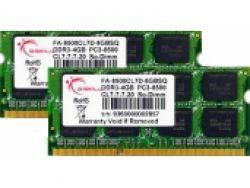 G.Skill FA-8500CL7D-8GBSQ - 8 GB - 2 x 4 GB - DDR3 - 1066 MHz - 204-pin SO-DIMM FA-8500CL7D-8GBSQ