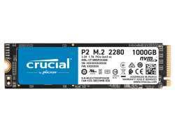 Crucial P2 SSD M.2 1TB NVMe PCIe 3.0 x 4 CT1000P2SSD8