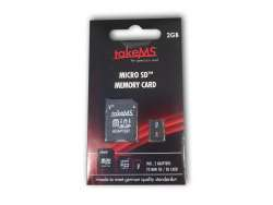 takeMS MicroSD Memory Card 2GB Retail +2 Adapters