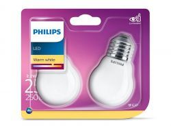 Philips LED Warm White E27 2,2W=25W 250 Lumen (2 St.)