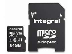 Integral Memory card MicroSDXC 64GB Cl.10