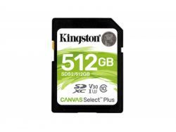 Kingston Canvas Select Plus SDXC 512GB  Class10 UHS-I SDS2/512GB