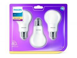 Philips LED Warm White E27 5,5W=40W 470 Lumen (3 St.)