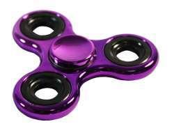 Fidget Spinner Toy - LILA/SCHWARZ METALL
