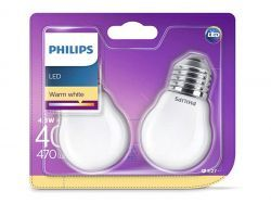 Philips LED Warm White E27 4,3W=40W 470 Lumen (2 St.)