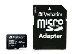 Verbatim PRO MicroSDHC 32GB Cl.10 U3 UHS-I w/Adapter 47041
