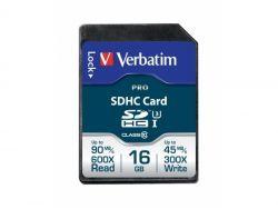 Verbatim PRO SDHC 16GB Cl.10 U3 UHS-I Blister 47020