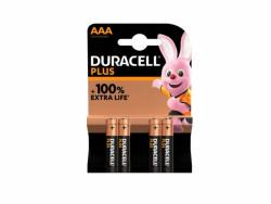 Battery Duracell Alkaline Plus Extra Life MN2400/LR03 Micro AAA (4-Pack)