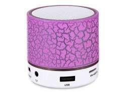 Reekin Coley Haut-parleur Bluetooth avec lumiére LED multicolore + kit main-libre (Pink)