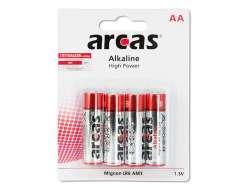 Pack de 4 piles Alcaline Mignon AA Arcas
