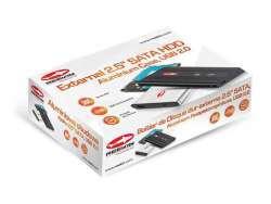 Reekin Boitier de Disque dur externe 2.5'' SATA, USB 2.0 (Noir)