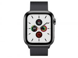 Apple Watch Series 5 Stainless Steel 4G space black Milanese DE MWWL2FD/A