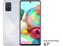 """Samsung Galaxy A71 128GB Silver 6.6"""" Android SM-A715FZSUDBT"""