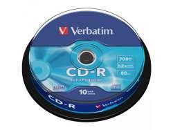 CD-R 80 Verbatim 52x DL 10er Cakebox 43437