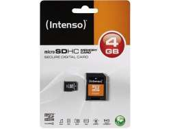 MicroSDHC 4GB Intenso +Adapter CL4 Blister
