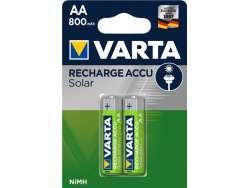 Varta Akku NiMH Mignon AA 800mAh Solar (2er Pack) 56736 101 402