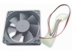 Gembird 80 mm PC case fan sleeve bearing 4 pin power connector FANCASE-4