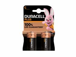 Battery Duracell Alkaline Plus Extra Life MN1400/LR14 Baby C (2-Pack)