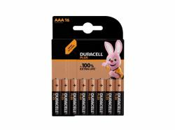 Battery Duracell Alkaline Plus Extra Life MN2400/LR03 Micro AAA (16-Pack)