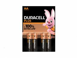 Battery Duracell Alkaline Plus Extra Life MN1500/LR06 Mignon AA (4-Pack)