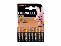 Bateria Duracell Alkaline Plus Extra Life MN2400/LR03 Micro AAA (8-Pack)