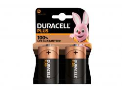 Battery Duracell Alkaline Plus Extra Life MN1300/LR20 Mono D (2-Pack)