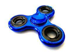 Fidget Spinner Toy - BLUE/BLACK METAL