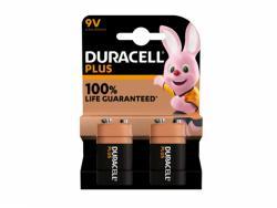 Battery Duracell Alkaline Plus Extra Life MN1604/6LR61 E-Block 9V (2-Pack)