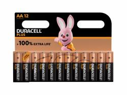 Battery Duracell Alkaline Plus Extra Life MN1500/LR06 Mignon AA (12-Pack)