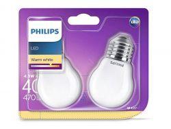 Philips LED Warm White E27 4,3W=40W 470 Lumen (2 St.)
