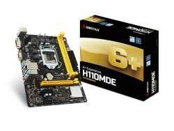 Biostar H110MDE Motherboard LGA 1151 (Buchse H4) Intel® micro ATX H110MDE