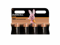 Battery Duracell Alkaline Plus Extra Life MN1400/LR14 Baby C (4-Pack)